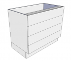 4 Equal Drawers
