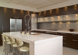 ROXX 60mm island work top with 100mm waterfall ends